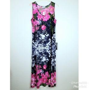 Avenue NWT Maxi Dress Sleeveless Floral Sz 22/24
